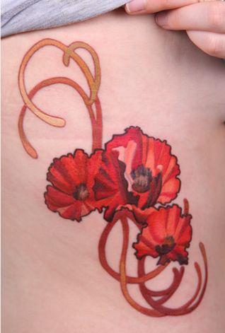 Mucha inspired Poppies