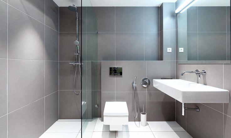 Серая плитка в ванной комнате: особенности, фото-2