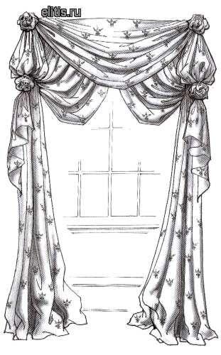 шторы с декоративными элементами