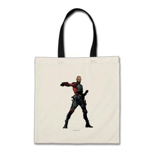 Suicide Squad   Deadshot Comic Book Art Tote Bag