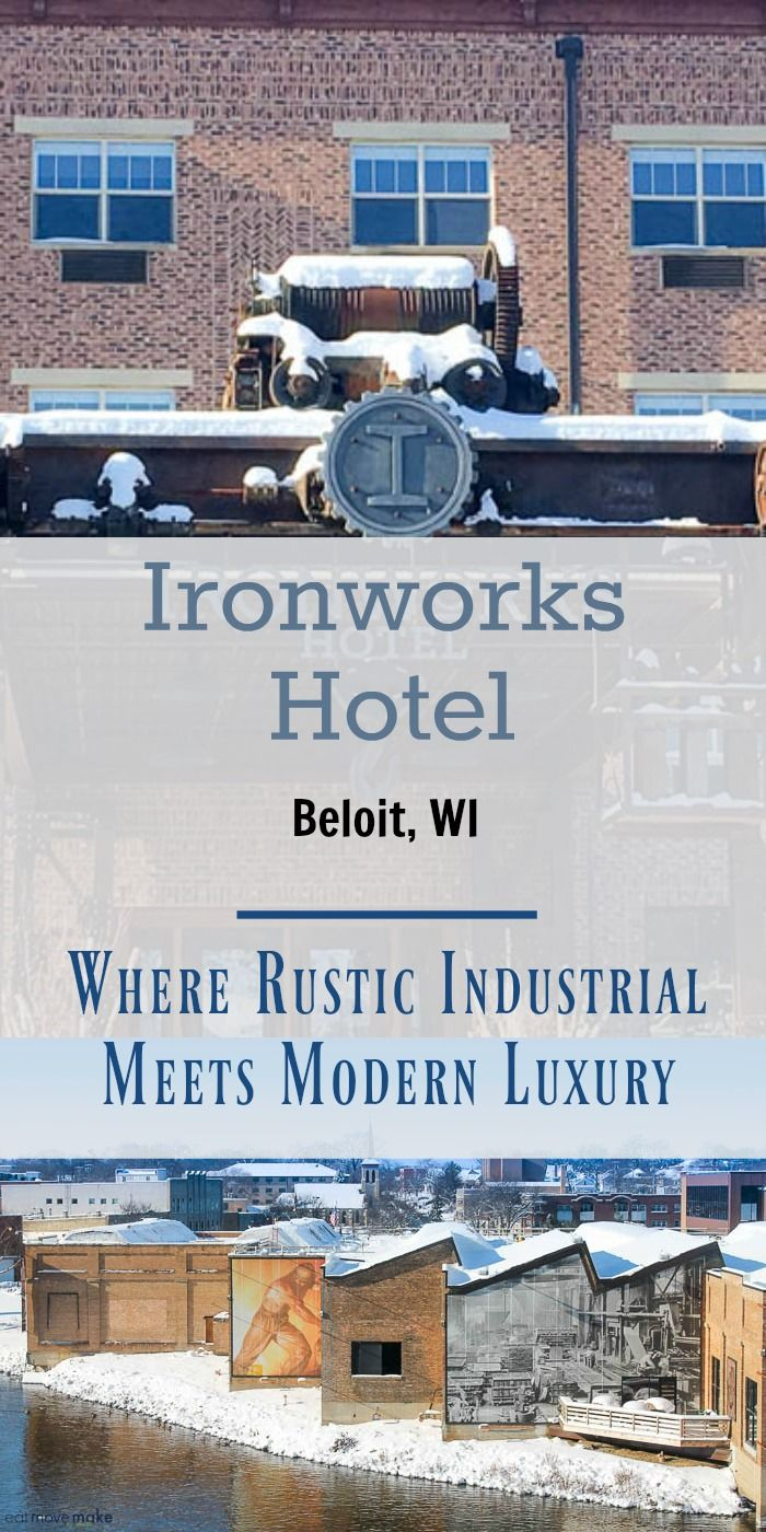Ironworks Hotel - Beloit,  Wisconsin (luxury boutique hotel) captures the essence of yesteryear in its modern take on Beloit's industrial history. An amazing hotel!