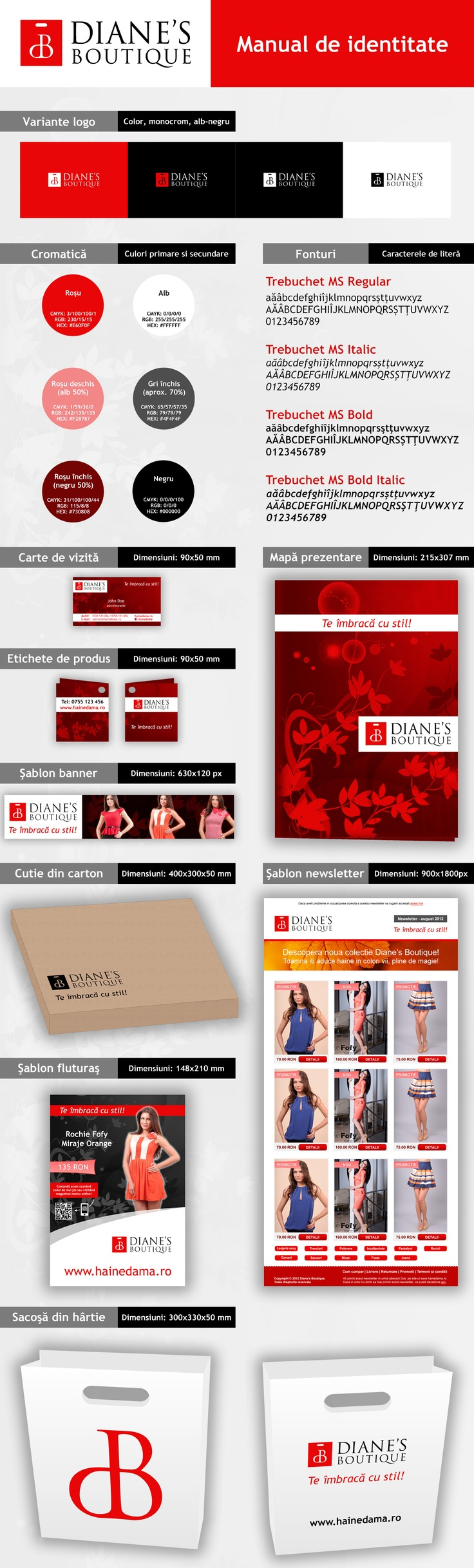 [RO] Diane's Boutique - identitate vizuală [EN] Diane's Boutique - visual identity  Made for our partners: InnoWEB & WebConnect
