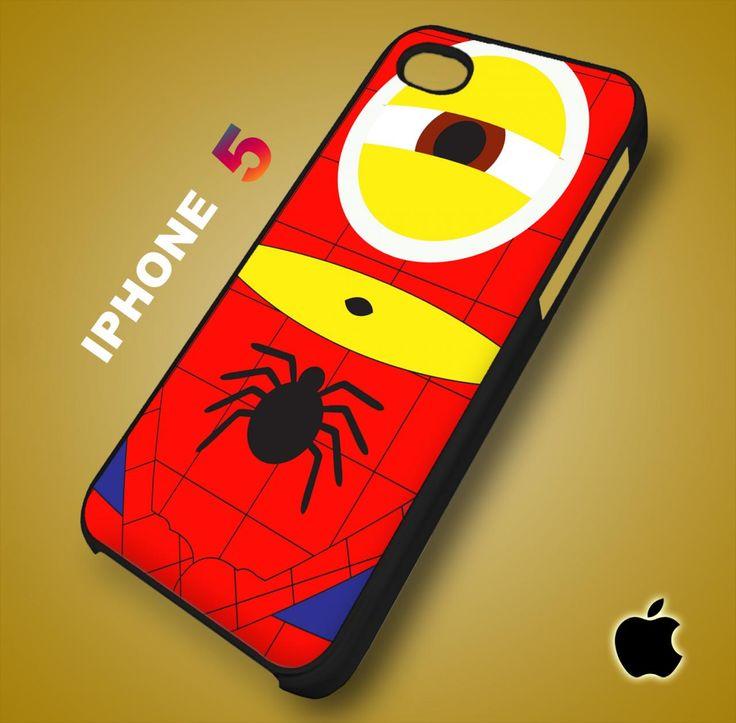 Despicable Me Avengers Spiderman Minion iPhone 5 Case Durable Plastic