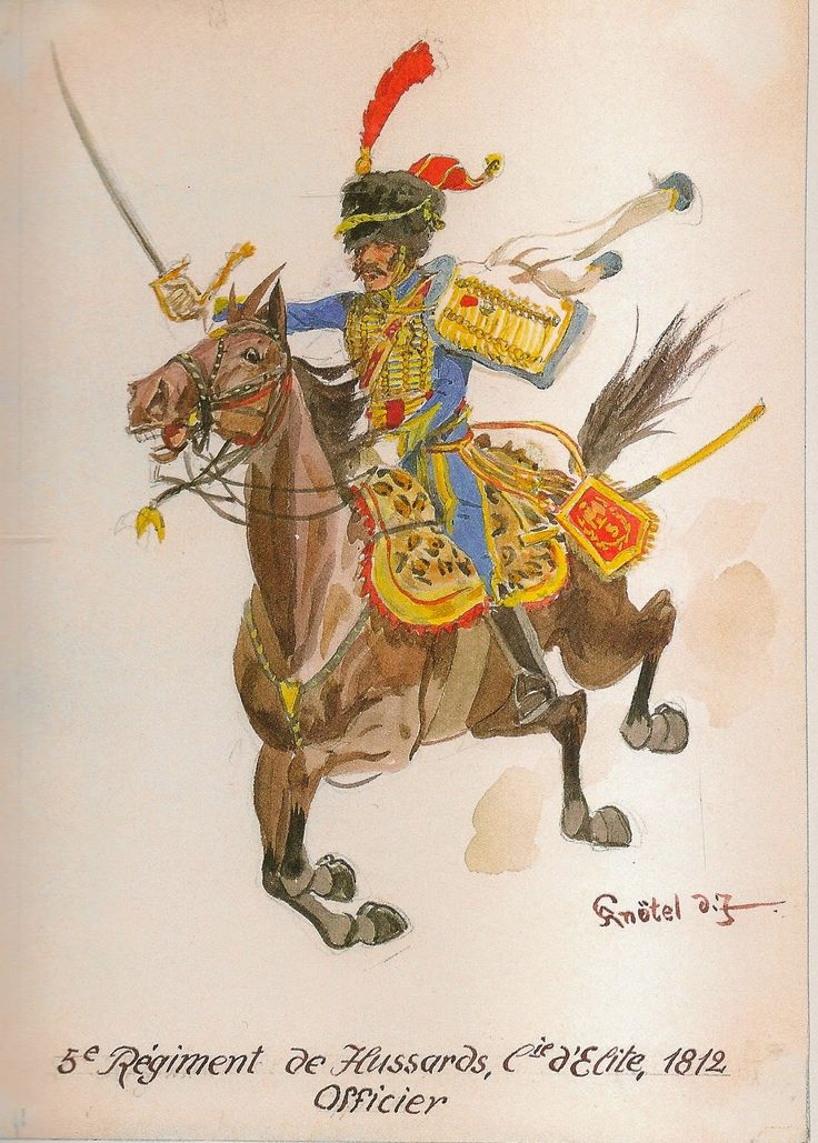 French; 5th Hussars, Elite Company Officer, 1812