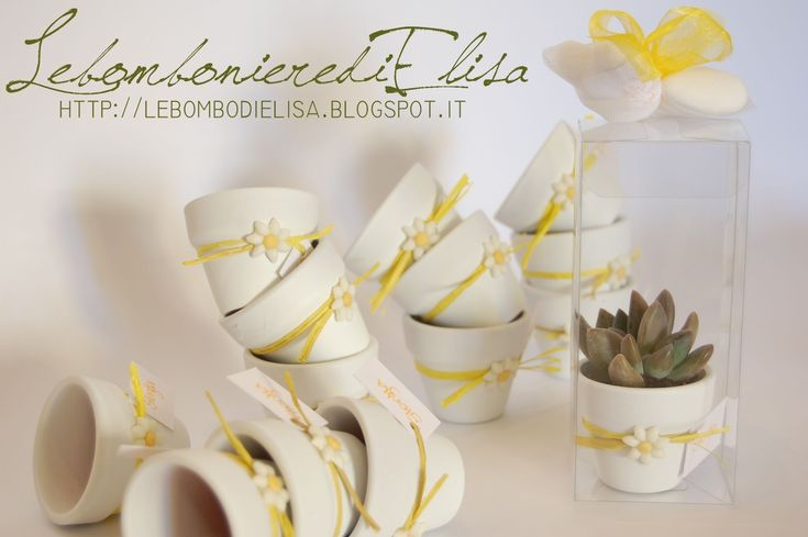 Yellow daisies favours