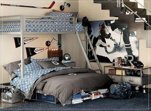 Teen Boy Bedrooms orange and blue Paint Ideas | Tween Bedroom Design Board - Our Family Journey