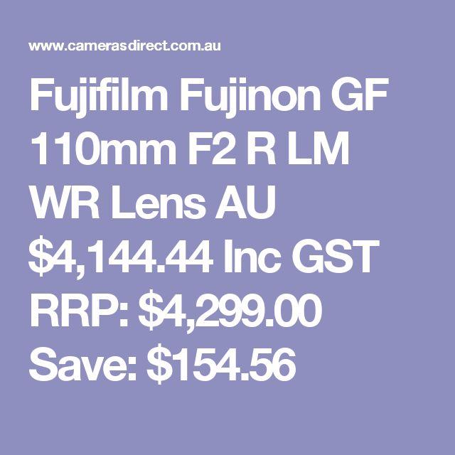 Fujifilm Fujinon GF 110mm F2 R LM WR Lens  AU $4,144.44 Inc GST RRP: $4,299.00 Save: $154.56