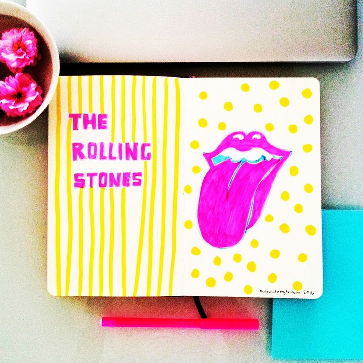 Moleskine Limited Edition Rolling Stones Notebook, Large, Ruled, Pink, Hard Cover (5 X 8.25) : 8058341710883