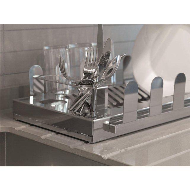Égouttoir à vaisselle en Acier Inoxydable.