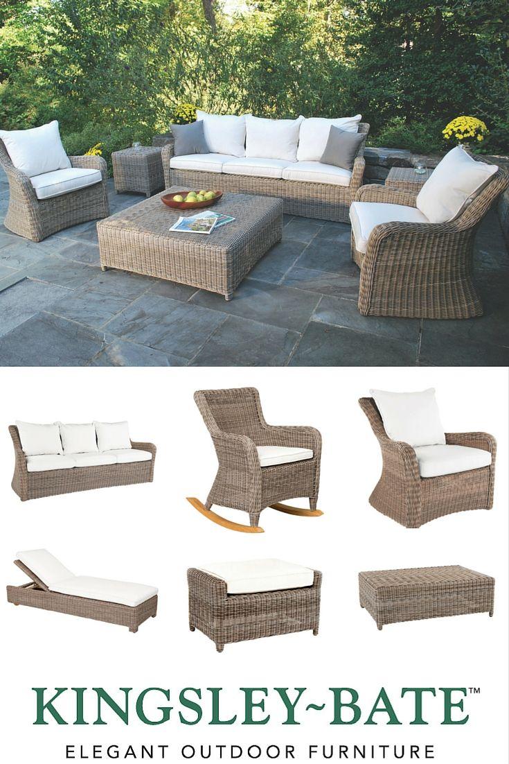 The Kingsley Bate Sag Harbor Collection Is Made From All Weather Synthetic Wicker