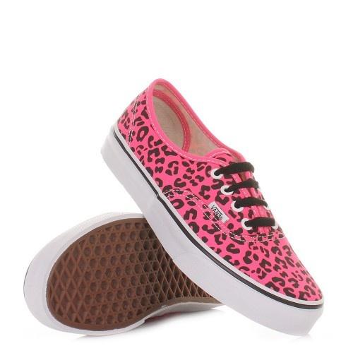 Vans Authentic Shoes - Neon Leopard Pink Shoes. £52