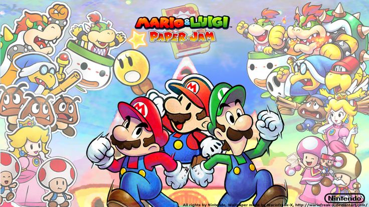Mario and Luigi -  Paper Jam  Wallpaper by Wariofreak-X