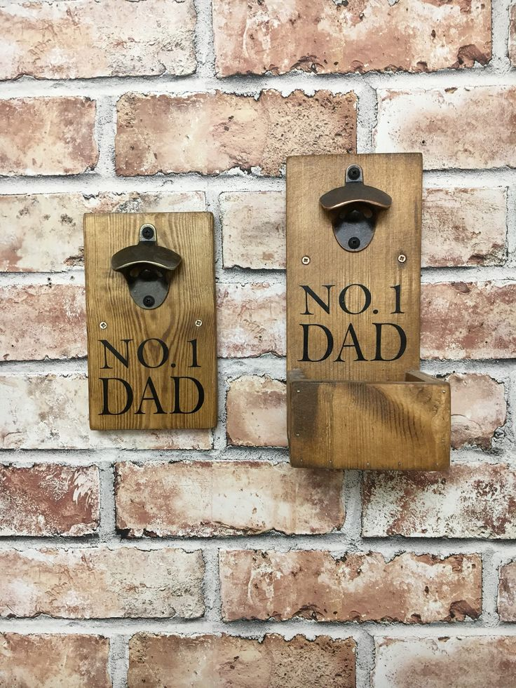 Bottle opener, No 1 Dad, Father's Day, beer, cap catcher, rustic, Wooden, birthday gift, handmade, gift for him, gift for Dad by Rusticretrofurniture on Etsy https://www.etsy.com/uk/listing/515967970/bottle-opener-no-1-dad-fathers-day-beer