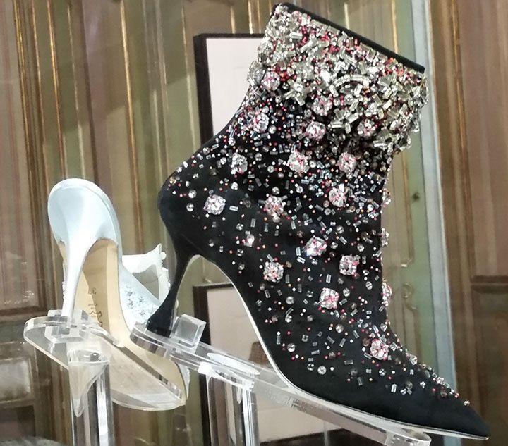 Manolo Blahanik boots as seen at Palazzo Morando exhibit: Manolo Blahnik The art of shoes.