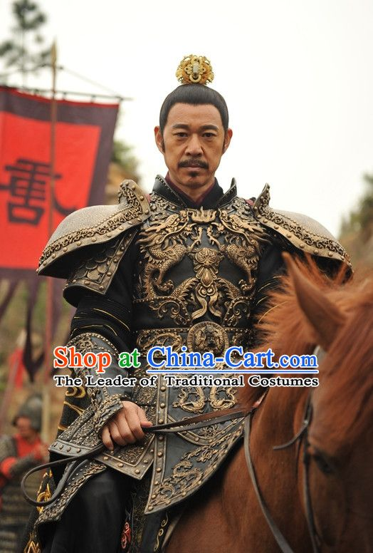 13d9c4b9e Chinese Ancient Tang Dynasty Emperor Body Armor Costumes Garment Complete  Set for Men