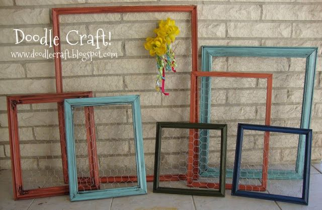Doodle Craft...: Chicken Wire Jewelry Holder Frames!