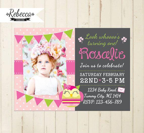First birthday invites girl onweoinnovate first birthday invites girl filmwisefo
