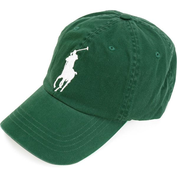 Polo Ralph Lauren logo baseball cap ($53) ❤ liked on Polyvore featuring men's fashion, men's accessories, men's hats, green and polo ralph lauren mens hats
