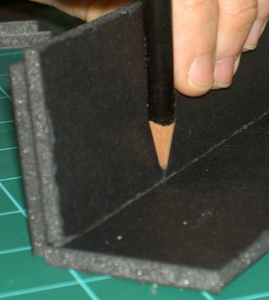Different Foam Board Techniques - including using PVA glue for sealing before painting.
