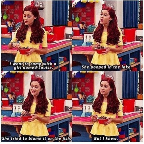 But she knew... CAT KNEW ARIANA WAS GONNA BECOME A POSTAR FORTUNE TELLER YOU