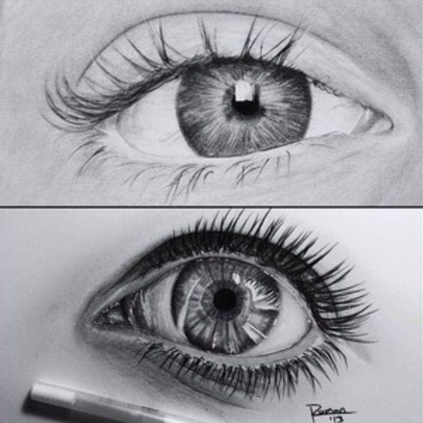 Drawing Pencil Sketch Eyes