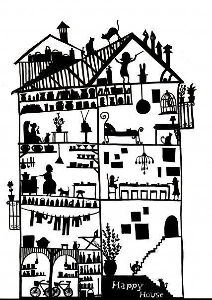 Happy House   Bri anda dibujando