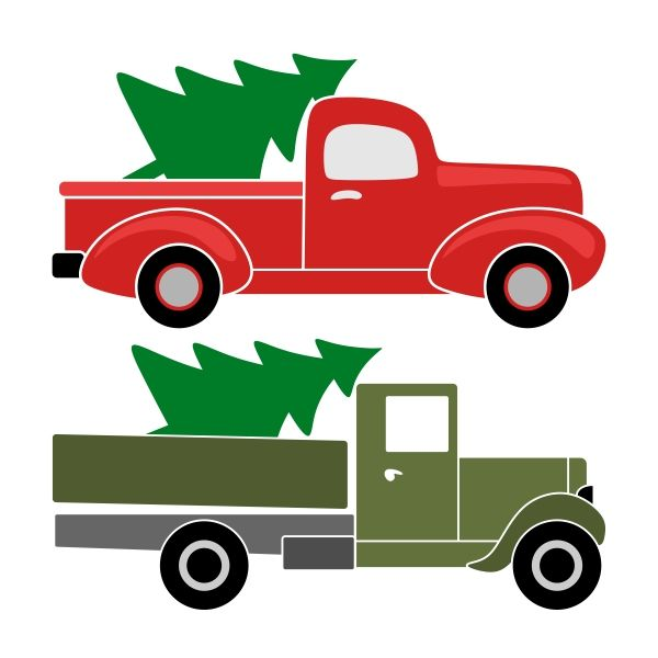 Free Christmas Tree Pick Up Part - 41: Christmas Truck SVG Cuttable Designs