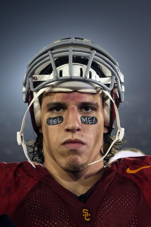 Brian Cushing: Do you feel me? Fight On USC Football!   All credit to USC Trojans - Official Page at http://www.facebook.com/USCTrojans