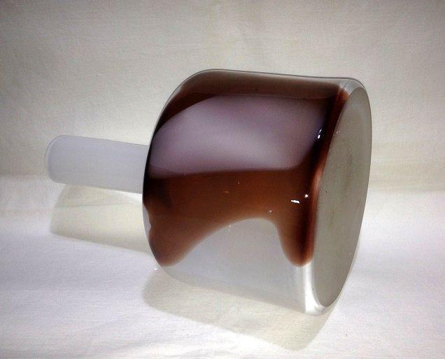 Jaroslav Taraba, blown glass vase, 70s, H: 24,0, D: 15,5 cm, Lednicke Rovne, Czechoslovakia