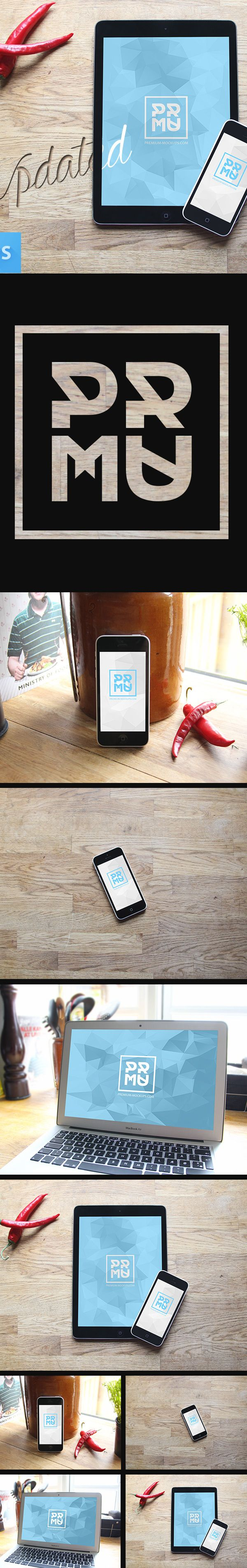 A small collection of quality mockups. Totally free, and license free. NOTE: You…