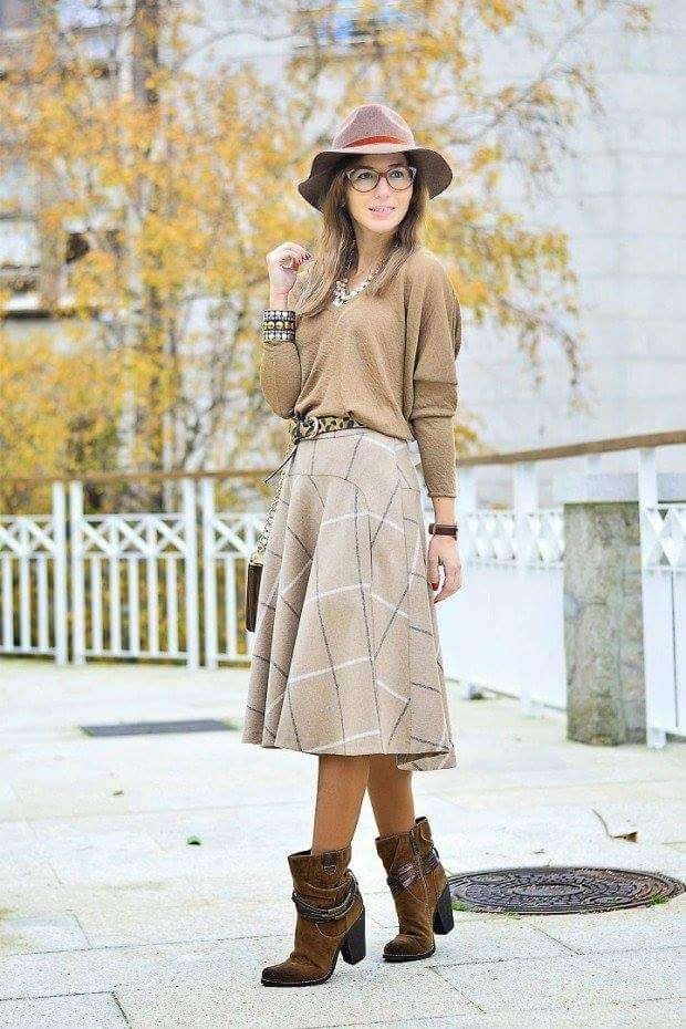 6c1ccdfe7 55+ Cute Winter Outfit Ideas for Street Style and Office | Clothing | Winter  skirt outfit, Midi skirt outfit, Skirt outfits modest
