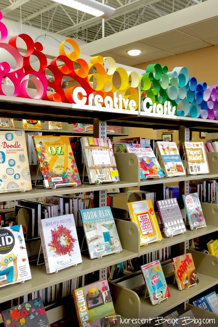 Library Display: Colorful Paper Circles