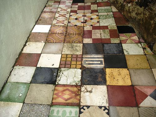 collections of tiles.  Mary Pereira