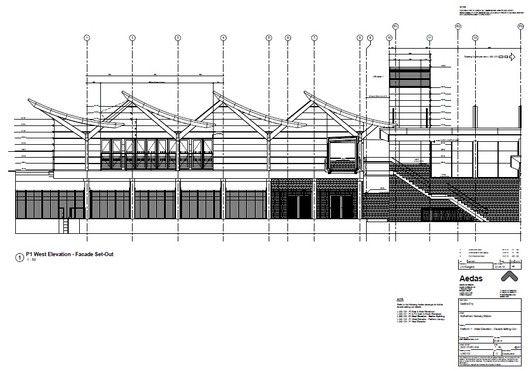 Estación Central de Rotherham,Elevación