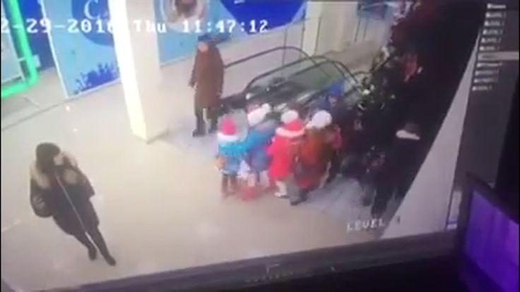ЧП с детьми на эскалаторе в Ставрополе
