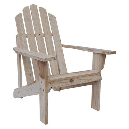Marina Rustic Adirondack Chair - Distressed White