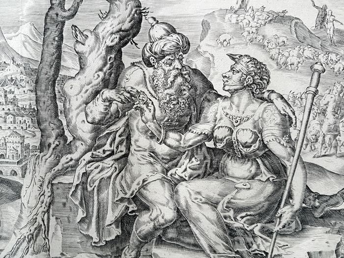 Complete set van 4 prenten van Harmen Jansz Muller (ca. 1539-1617) na nadat Maarten van Heemskerck (Vlaamse Primitieven Heemskerck 1498-1574 Haarlem) geplaatst door Nicolaes Visscher - het verhaal van Juda & Thamar 4/4 - 1585  EUR 4.00  Meer informatie
