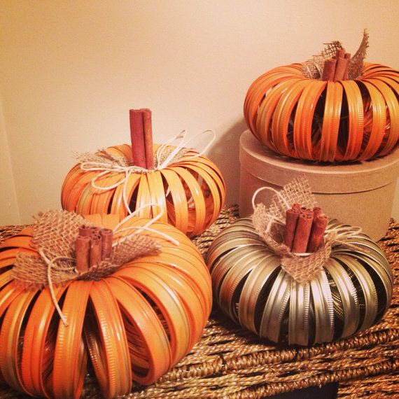 Recycled Halloween Decorations: Recycled+Wedding/Halloween/Fall+Pumpkin+Decor+by