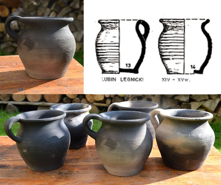 Mugfuls/pots 0,6l, in which you can cook directly on fire. Lubin Legnicki, Poland, XIV-XV.