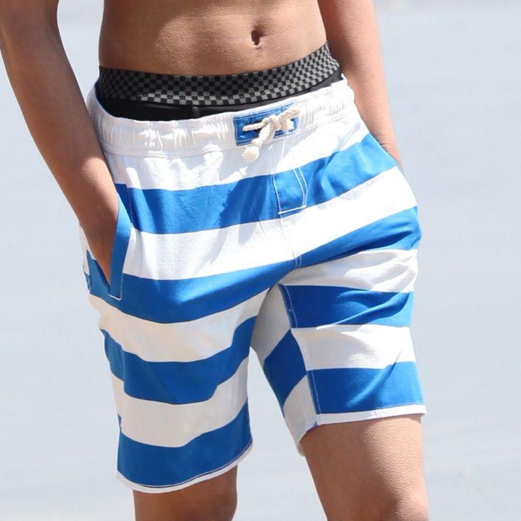 Swim Trunks Men Board Shorts Swimming Beach Surf Casual Blue Gray Orange NWT  #SAFS #BoardShorts