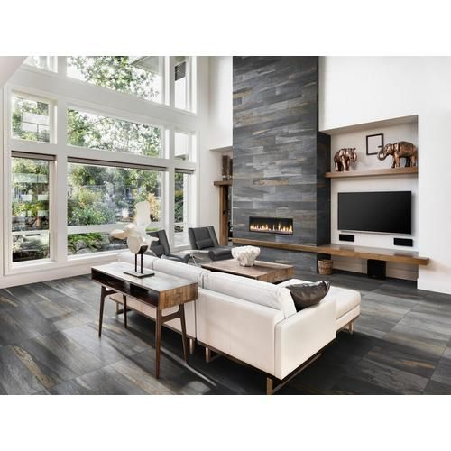 Meridian Slate Gray Porcelain Tile Floor Decoroutdoor