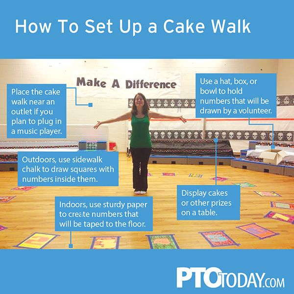 A cake walk is a fun addition to school events. Here's how to do it right!
