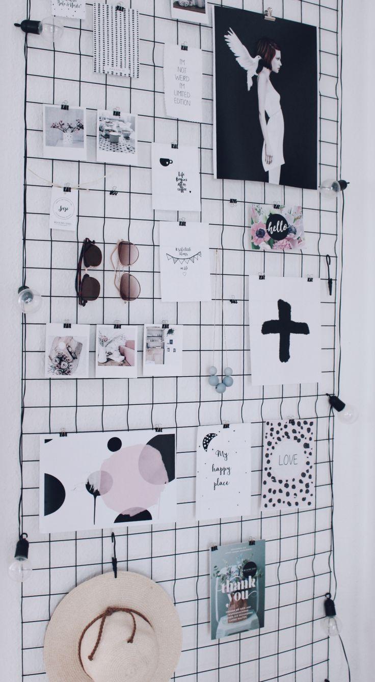 Wandgitter Dekorationsideen + 4 tolle Prints zum Ausdrucken – die kleine Designerei