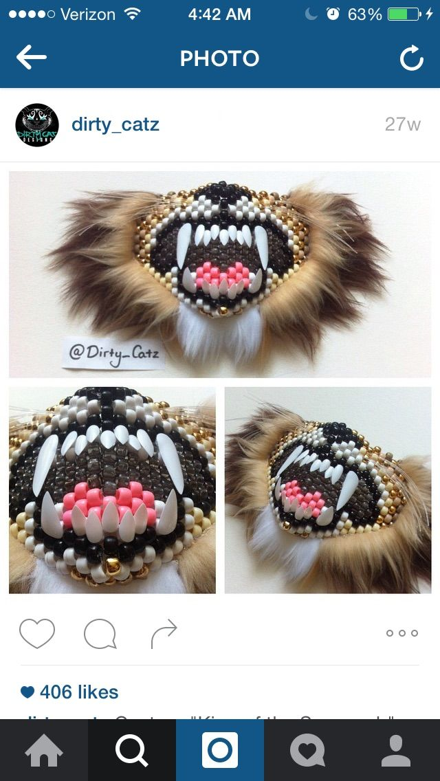 Awesome Dirty Catz lion mask!