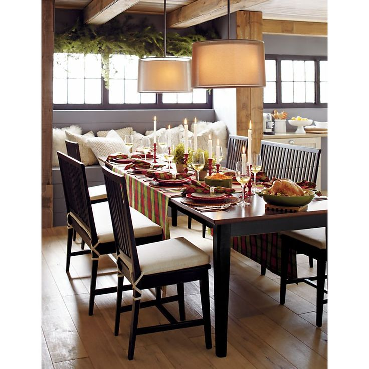 Pranzo II Bruno Extension Dining Table TableCrate And BarrelPendant LightsBronze