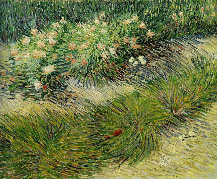 Vincent van Gogh - Grasses and Butterflies c.1889