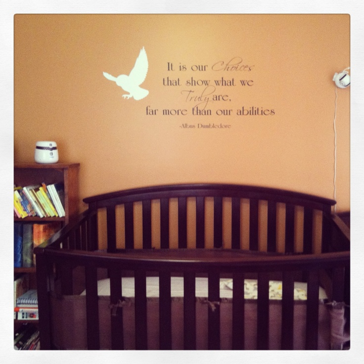 Quote Wall Stickers For Nursery : Harry potter nursery if i have a boy he will hp