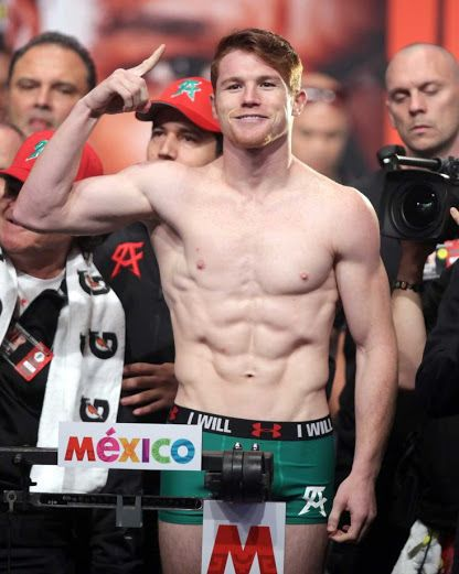 "Canelo Alvarez, ""The Mexican Ginger"" - Super Welterweight who won a Middleweight Championship belt"