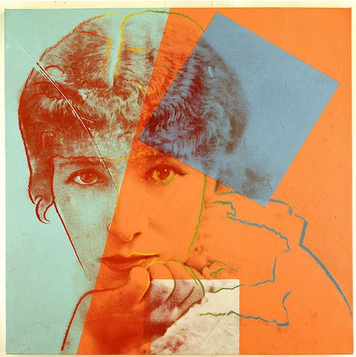 """Sara Bernhardt  by Andy Warhol, par of """"10 Portraits of Jews of the 20th Century"""" (1980)"""