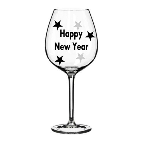 Best New Years Vinyl Ideas Images On Pinterest Happy New Year - Diy vinyl decals for wine glasses